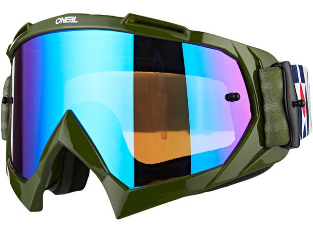 O'Neal B-10 Gafas, warhawk green/sand-radium blue